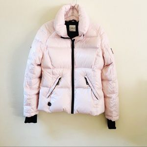 SAM Pink Goose Down Puffer Coat Size Large